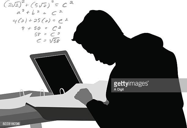 laptop math equation - high school student stock illustrations, clip art, cartoons, & icons