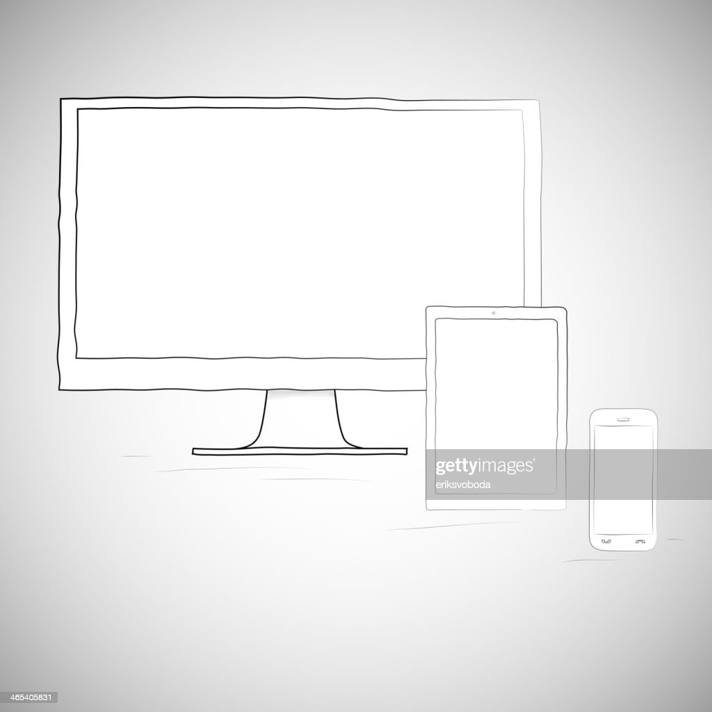 Laptop, mobile phone and tablet, electronic devices