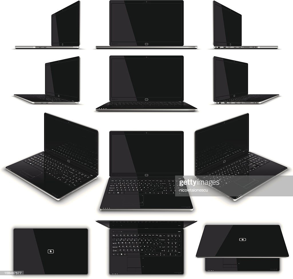 Laptop Multiple Views - High Detail