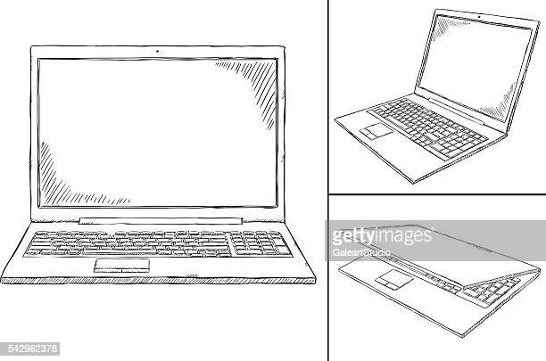 laptop PC doodle - 3 views