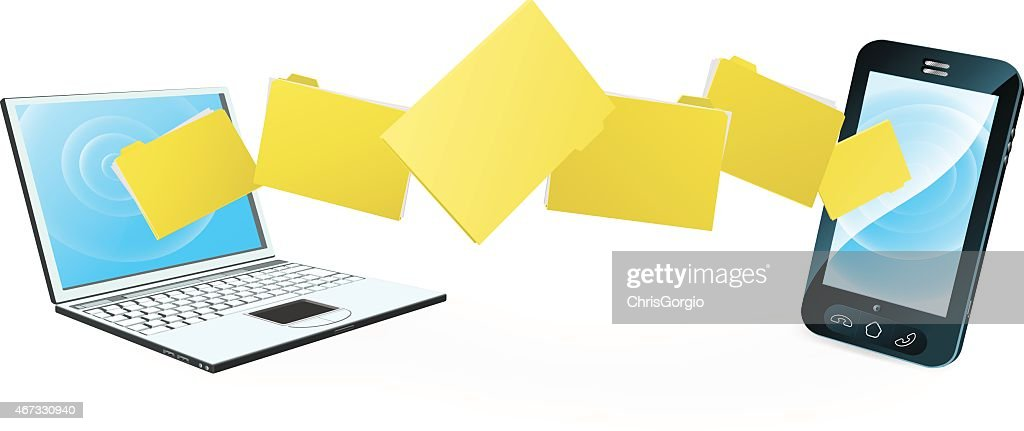 Laptop phone file transfer