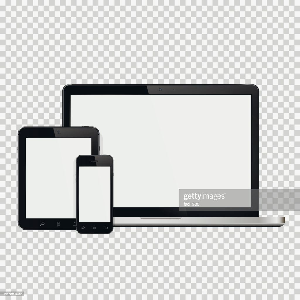 Laptop, smartphone and tablet mockup