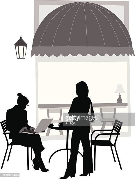 laptop two vector silhouette - awning stock illustrations, clip art, cartoons, & icons