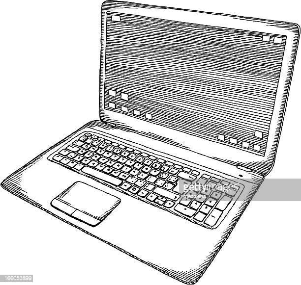 ノートパソコン - 薄い点のイラスト素材/クリップアート素材/マンガ素材/アイコン素材