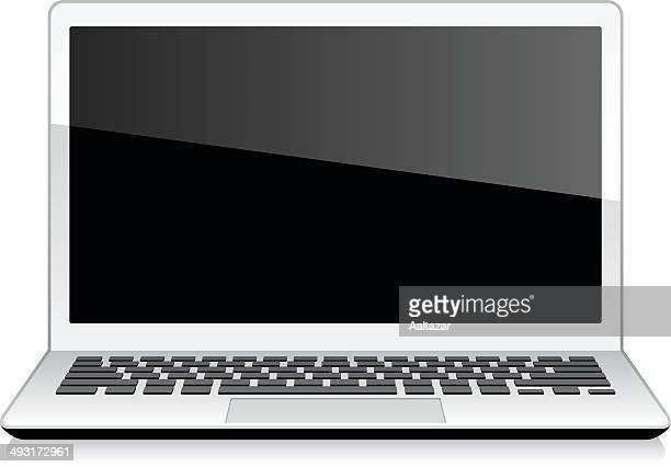 laptop (notebook) - wide screen stock illustrations
