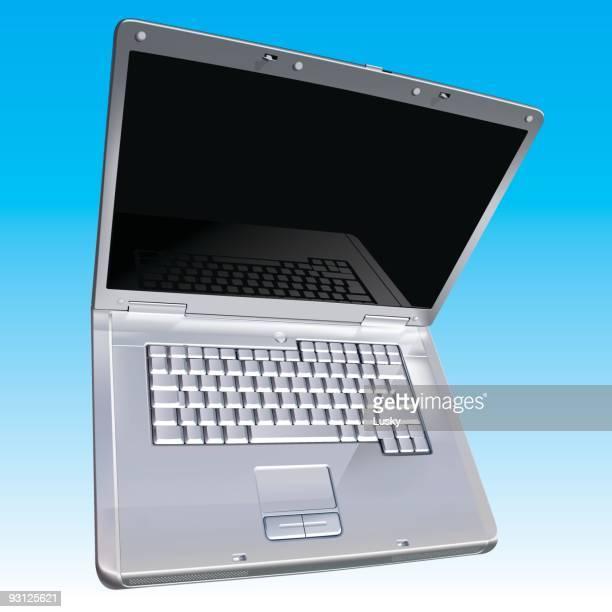 laptop - blank screen stock illustrations, clip art, cartoons, & icons
