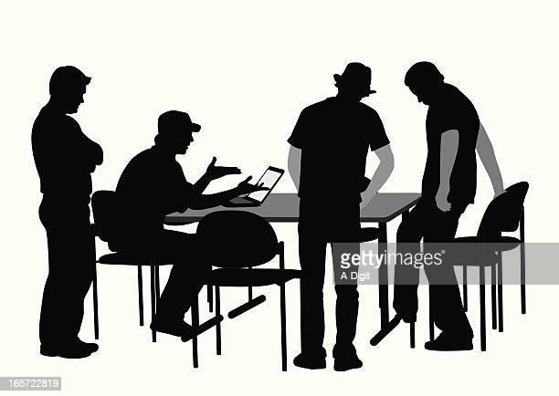 LaptopTalk Vector Silhouette