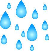 Large amount of raindrops