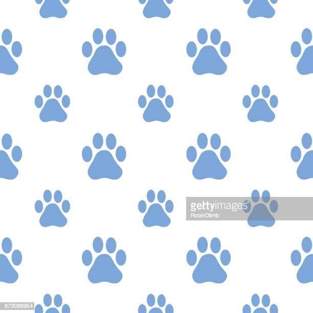 ilustrações de stock, clip art, desenhos animados e ícones de large and small paw paw prints seamless pattern - pegadadepatadeanimal