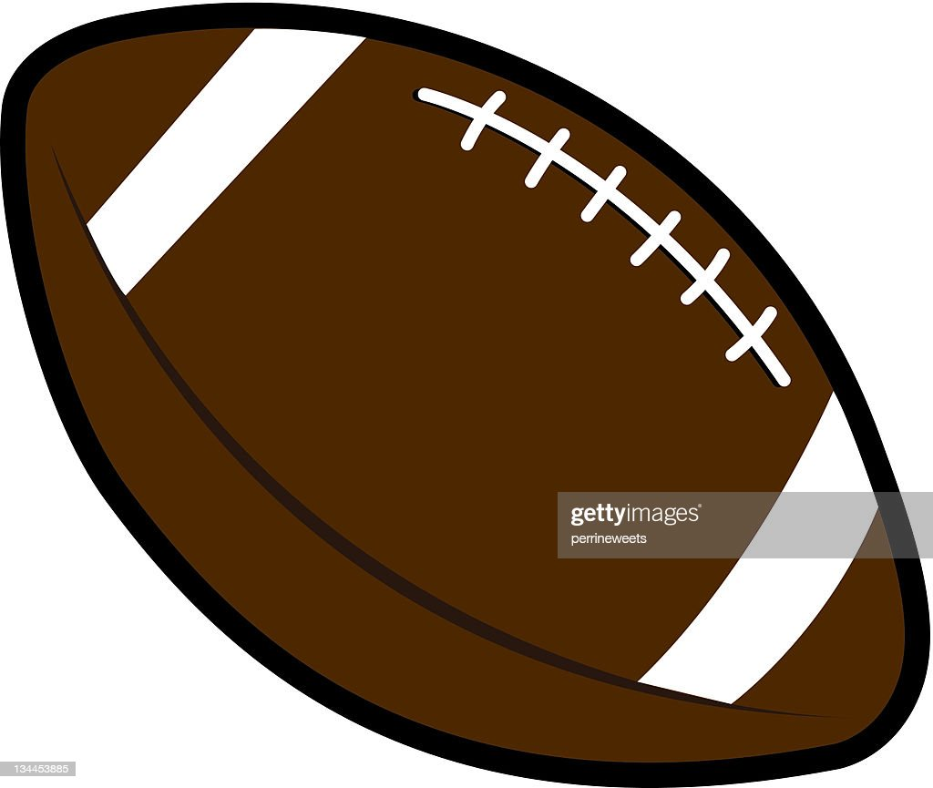 Large brown and white football