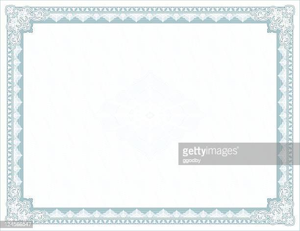 large certificate - diploma - stock certificate stock illustrations
