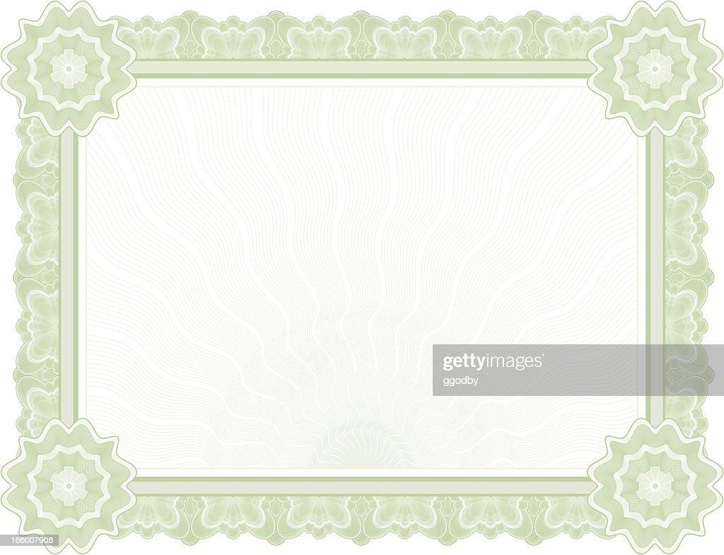 Large Certificate - Diploma (GREEN VARIANT) : stock illustration