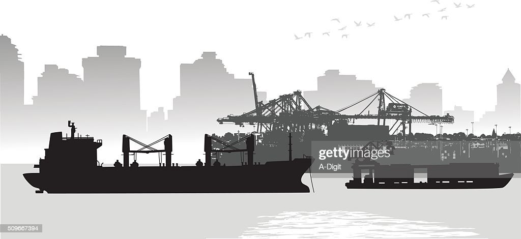 Large City Port Freighter