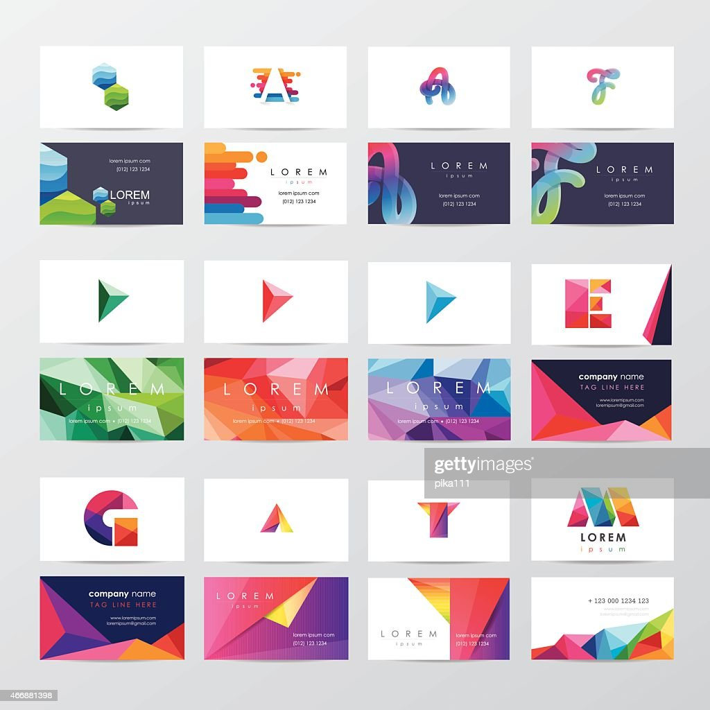 large collection of colorful business card template designs