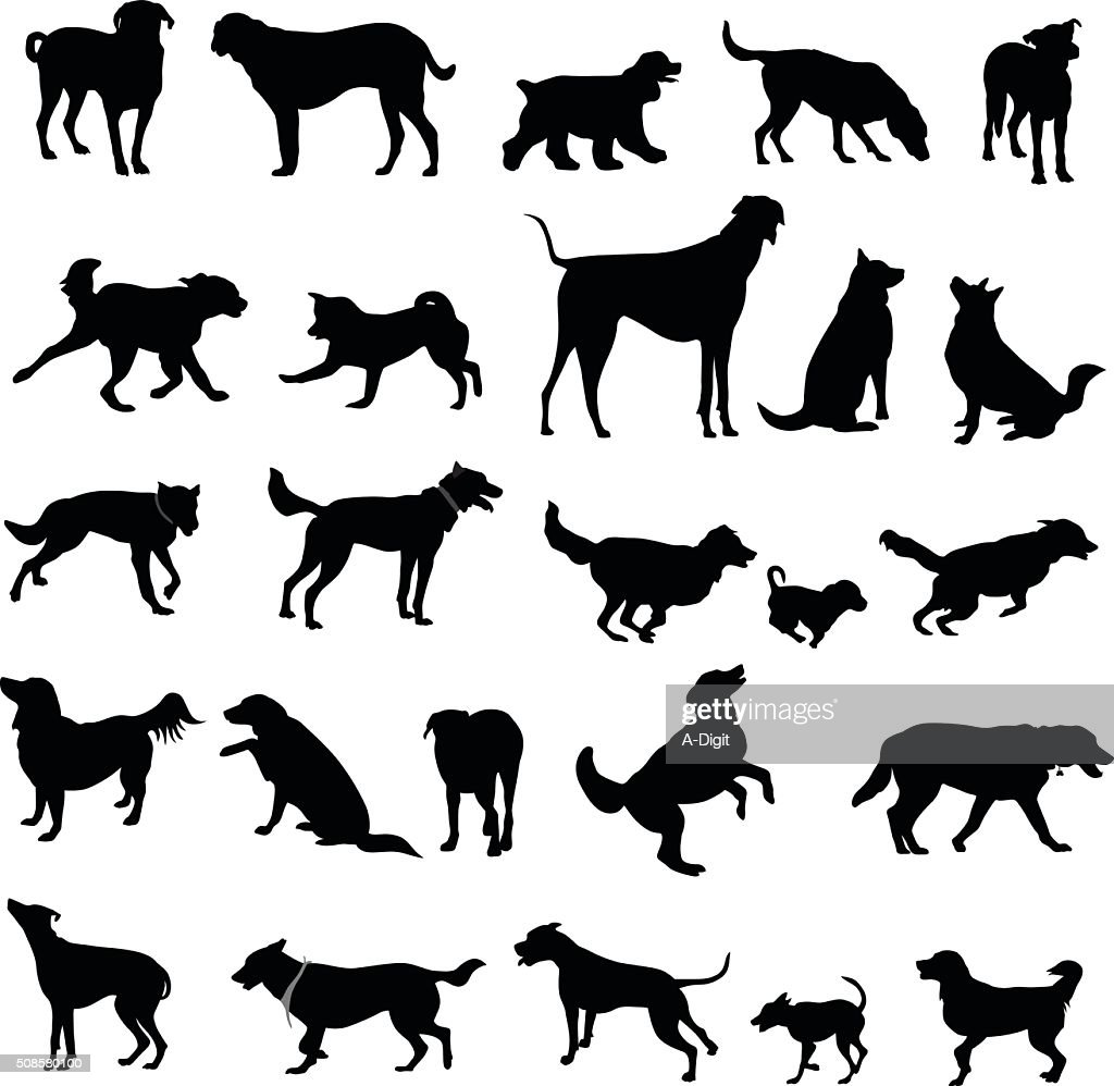 Large Collection Of Dog Silhouettes