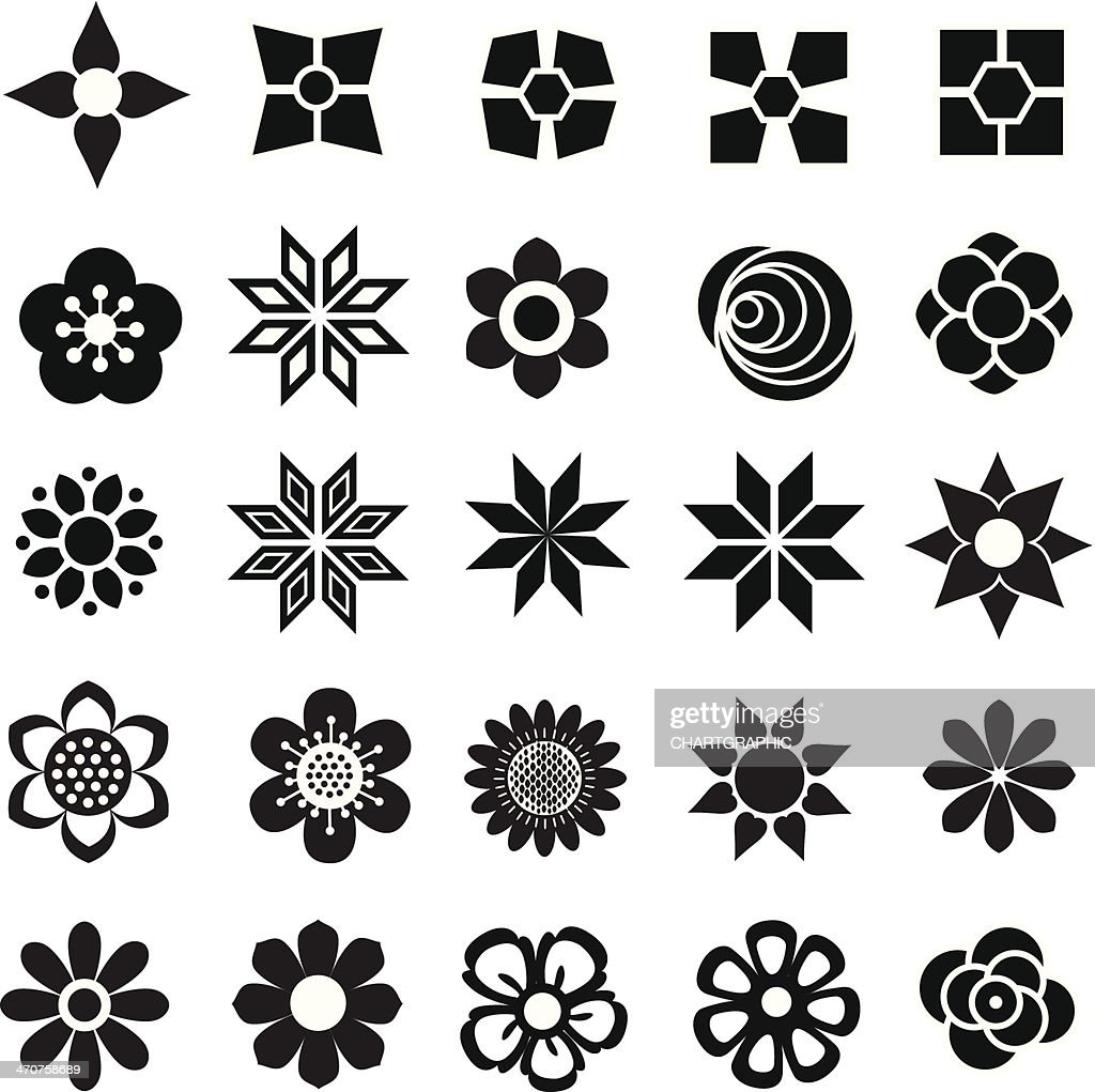 Large collection of flower vectors