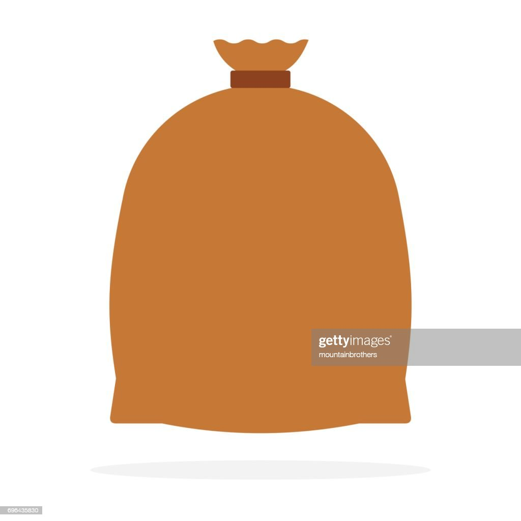 Large enclosed bag vector flat isolated