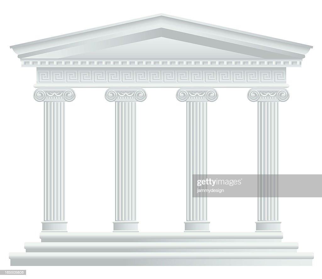 Large Greek/Roman Temple : stock illustration