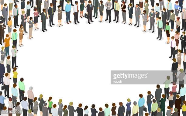 円の形をした大勢の人々 - ミサ点のイラスト素材/クリップアート素材/マンガ素材/アイコン素材