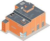 Large Isometric Factory Warehouse