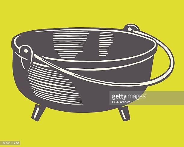 large kettle - cauldron stock illustrations, clip art, cartoons, & icons