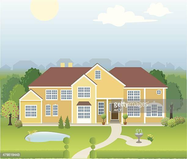 World's Best Mansion Stock Illustrations