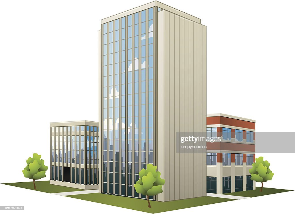 Large Plan Of Modern Office Buildings : Vector Art