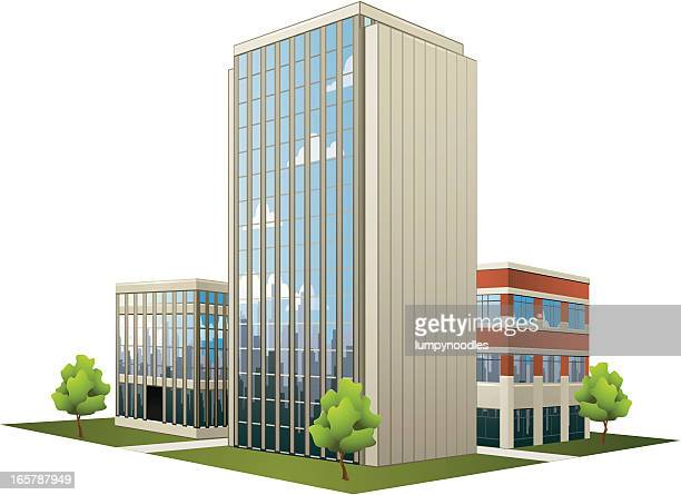 Large plan of modern office buildings
