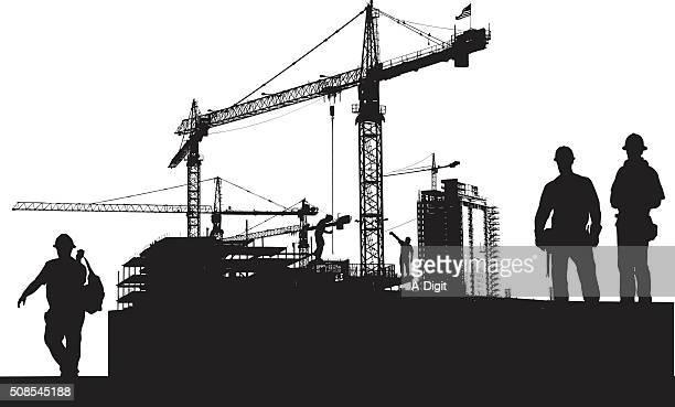 ilustrações, clipart, desenhos animados e ícones de trabalho de construção de grande escala - cinto de ferramentas
