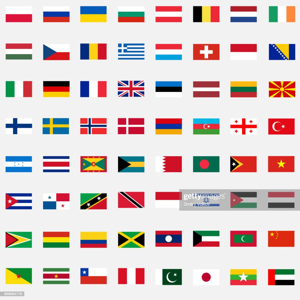 A large set of flags