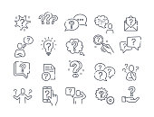 Large set of question, query or confusion icons