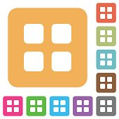 Large thumbnail view mode rounded square flat icons