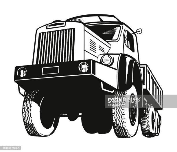 ilustraciones, imágenes clip art, dibujos animados e iconos de stock de gran camión - monstertruck