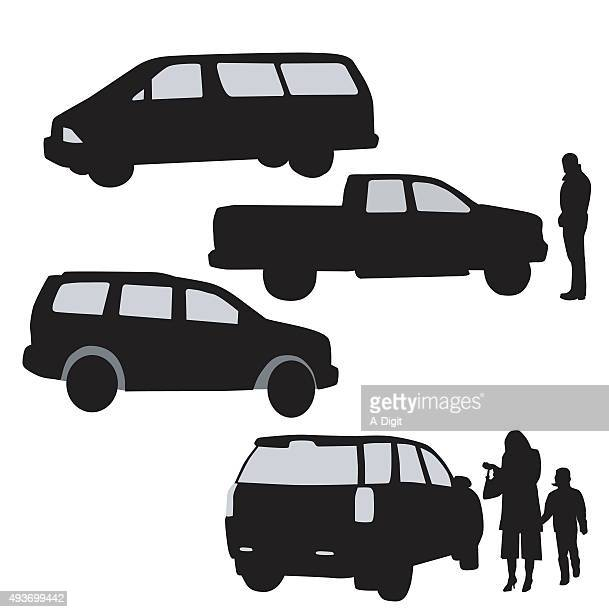 large vechicles - suv stock illustrations, clip art, cartoons, & icons