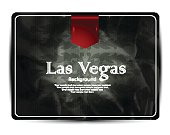 Las Vegas background-greeting card-vintage