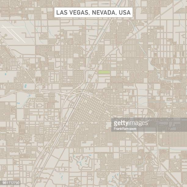 Las Vegas Nevada US City Street Map