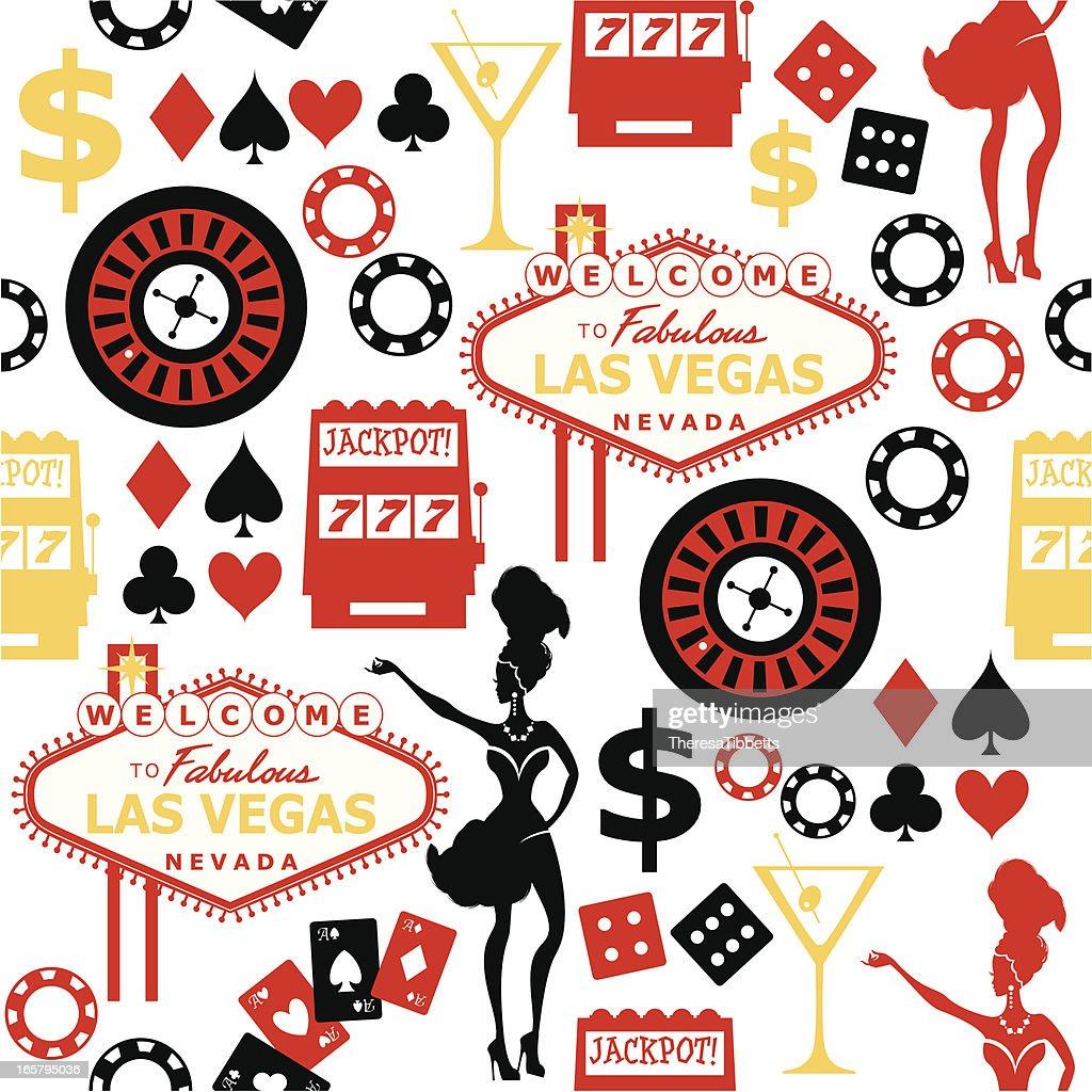 Las Vegas Seamless Pattern Vector Art Getty Images