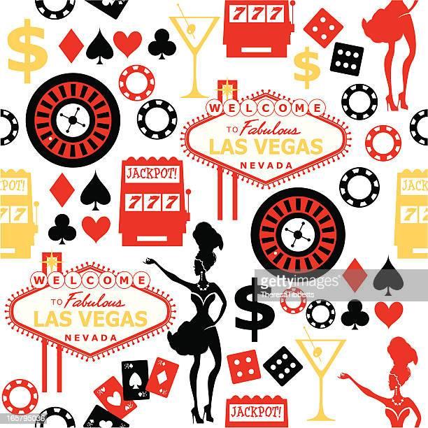 Las Vegas Seamless Pattern