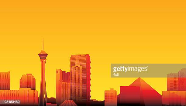 las vegas - las vegas stock illustrations