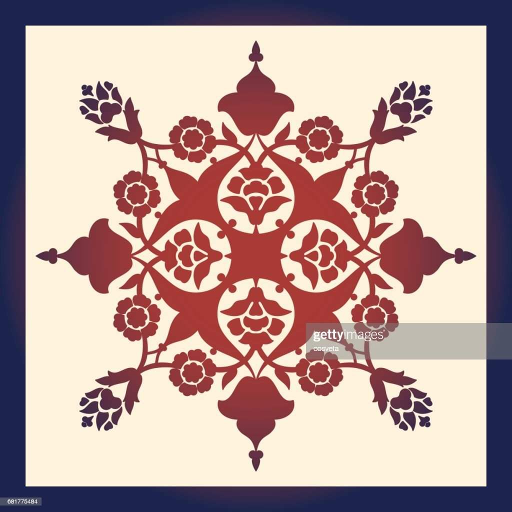 Laser Cut Floral Arabesque Ornament Pattern Vector Template Cutting ...