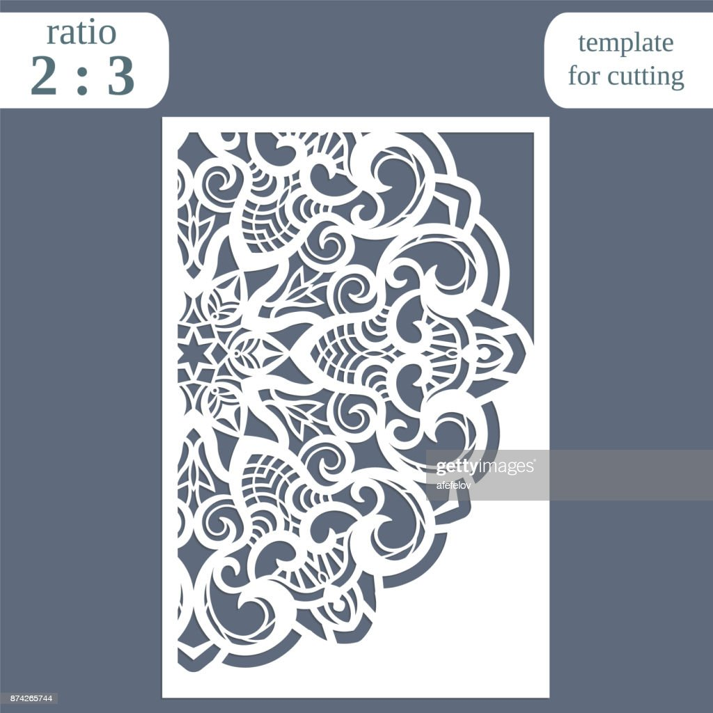 Laser Cut Wedding Card Template Paper Openwork Greeting Card ...