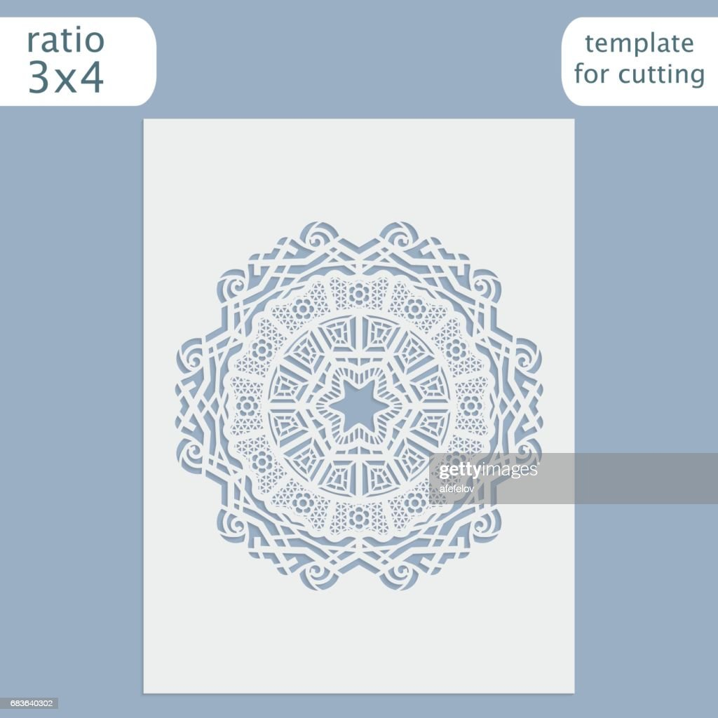 Laser Cut Wedding Invitation Card Template Cut Out The Paper Card ...