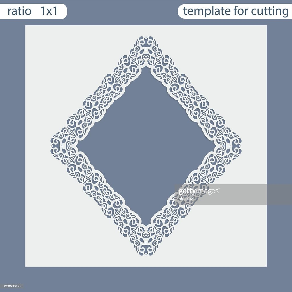 Laser Cut Wedding Invitation Card Template Vector Art | Getty Images