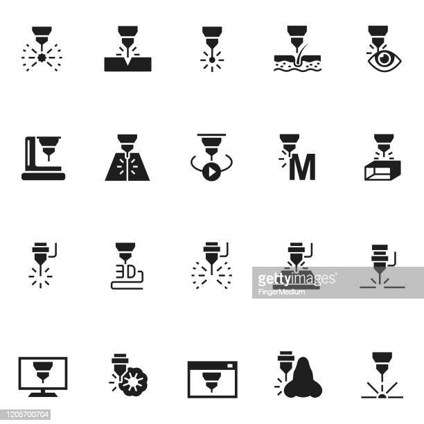 laser vector icons - laser stock illustrations