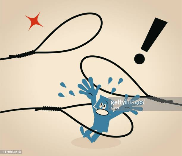 ビジネスマン(タレント)を投げ捨て - 待ち伏せ点のイラスト素材/クリップアート素材/マンガ素材/アイコン素材