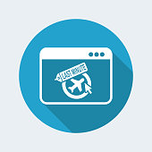 Last minute link button - grunge stamp effect - Vector flat icon