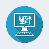 Last minute web grunge stamp link button - Vector flat icon