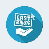 Last minute web offer - Minimal grunge icon