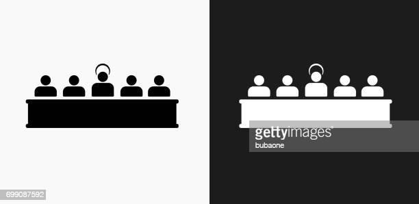 黒と白のベクトルの背景の最後の晩餐のアイコン - 偶像点のイラスト素材/クリップアート素材/マンガ素材/アイコン素材