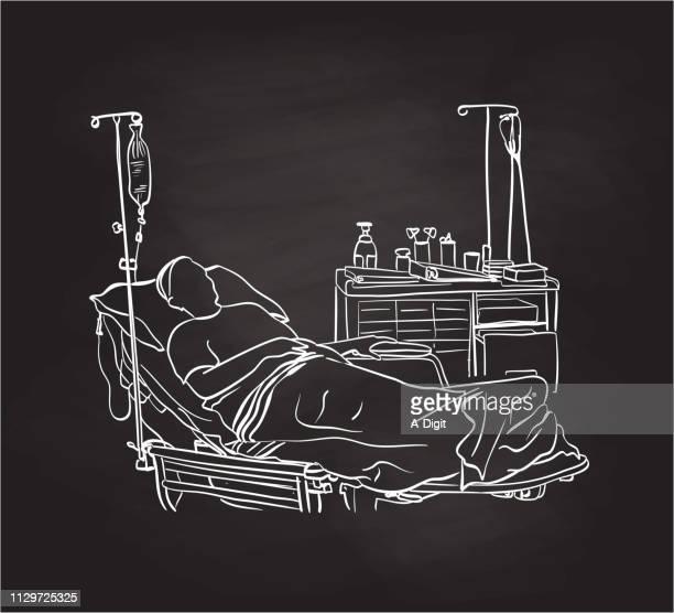 lastbreathhospital - blanket stock illustrations